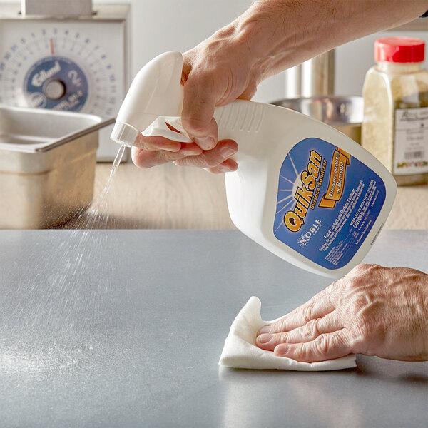 Noble Chemical 1 Qt. / 32 oz. QuikSan Food Contact Surface Sanitizer Main Image 2