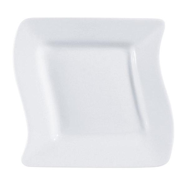 "CAC SOH-8 Soho 8 1/2"" Ivory (American White) Square Stoneware Plate - 24/Case Main Image 1"