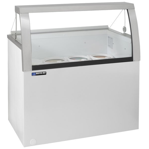Bilt DDLCG Low Curved Glass Ice Cream Dipping Cabinet - Dipping cabinet