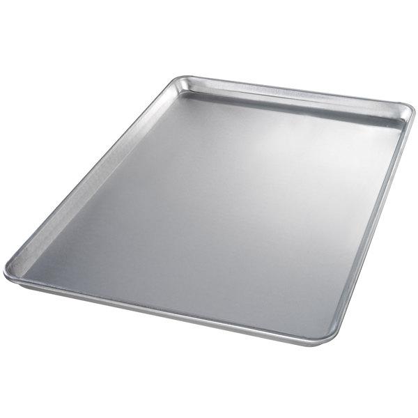 Chicago Metallic 40600 Full Size 12 Gauge Aluminum Sheet Pan - Sanitary Open Bead/Semi-Curled Rim, 18 inch x 26 inch