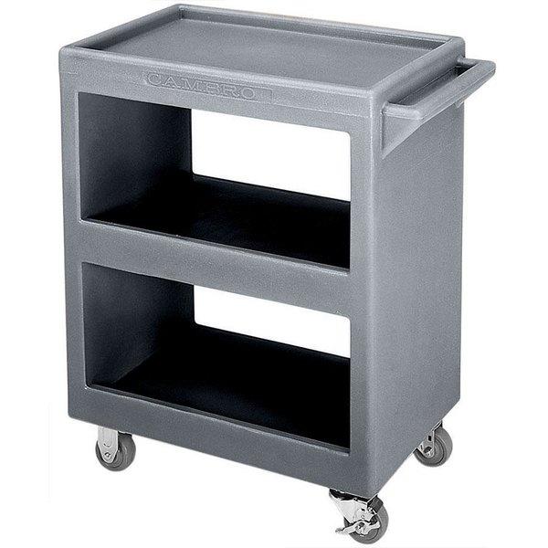"Cambro BC2304S191 Granite Gray Three Shelf Service Cart - 33 1/4"" x 20"" x 34 5/8"" Main Image 1"