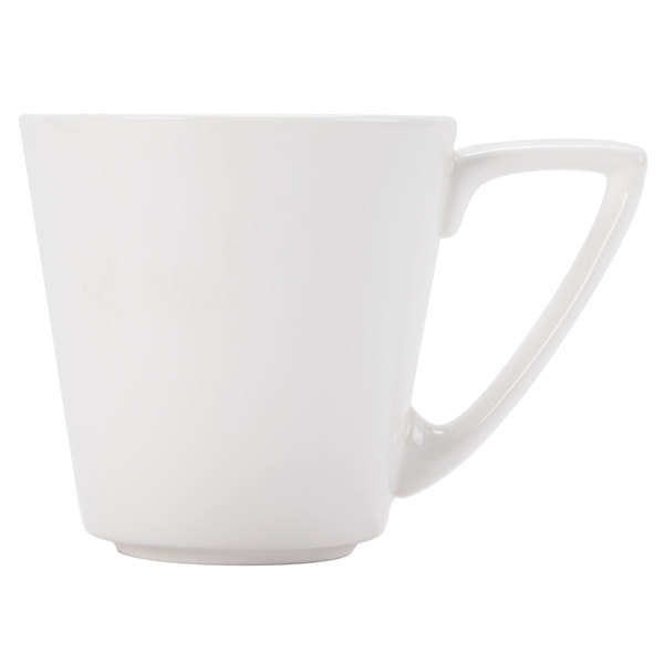 CAC SHER-1 Sheer 7.5 oz. Bone White Porcelain Coffee Cup - 36/Case Main Image 1
