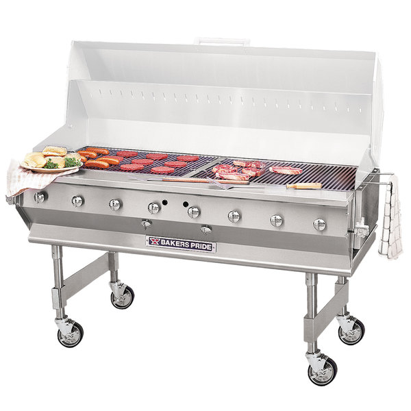 """Bakers Pride CBBQ-60S Natural Gas 60"""" Ultimate Outdoor Gas Charbroiler"""