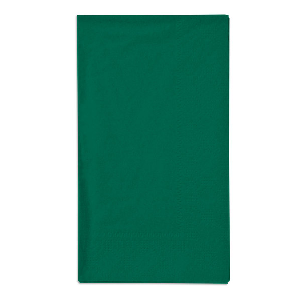 Hoffmaster 180537 Hunter Green 15 inch x 17 inch Paper Dinner Napkins 2-Ply - 1000 / Case