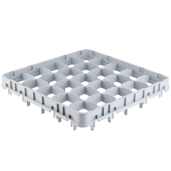 "Cambro 25E4151 25 Camrack Compartment Soft Gray Full Drop Full Size Stemware Extender - 19 5/8"" x 19 5/8"" x 2"" Main Image 1"