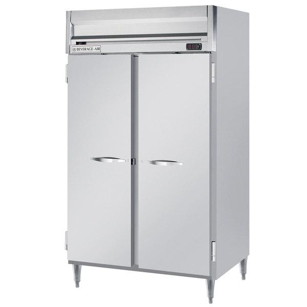 "Beverage-Air HRPS2-1S Horizon Series 52"" Solid Door All Stainless Steel Reach-In Refrigerator Main Image 1"