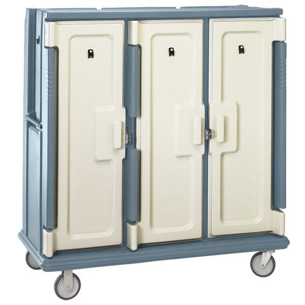 Cambro MDC1411T60401 Slate Blue Meal Delivery Cart with Security Package Main Image 1