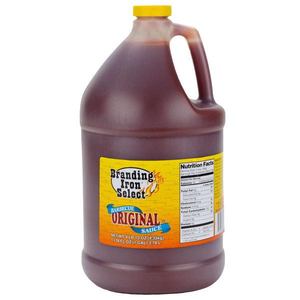 Branding Iron 1 Gallon Original Select Barbecue Sauce - 4/Case