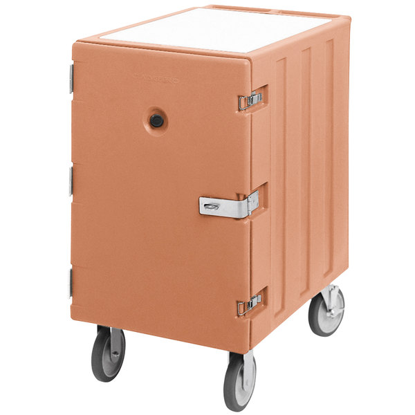 "Cambro 1826LTCSP157 Camcart Coffee Beige Mobile Cart for 18"" x 26"" Sheet Pans and Trays with Security Package"