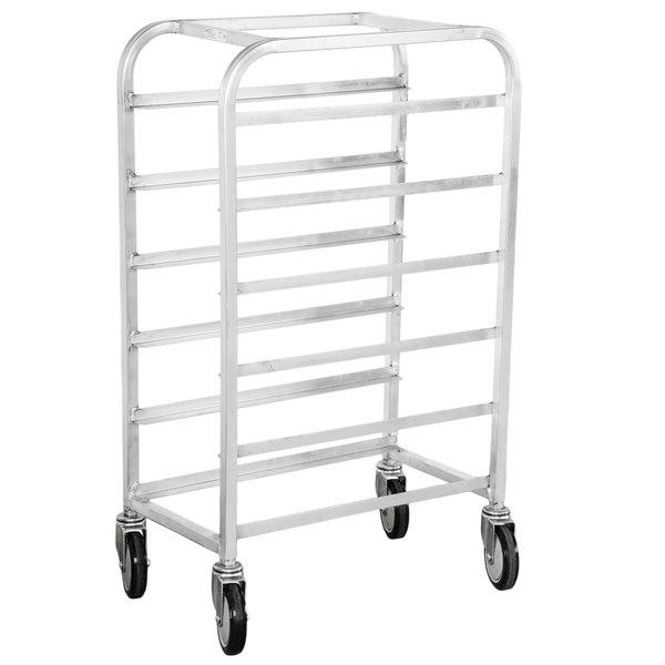"Winholt AL-126 End Load Aluminum Platter Cart - Six 12"" Trays Main Image 1"