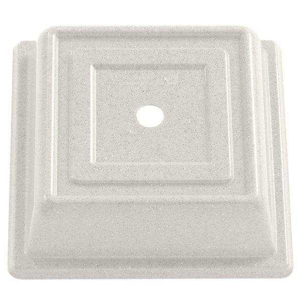 "Cambro 85SFVS101 Versa Camcover 8 1/2"" Antique Parchment Square Plate Cover - 12/Case"