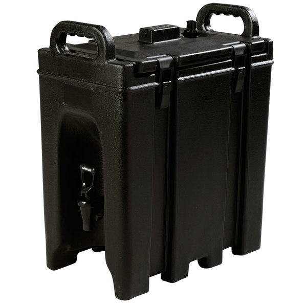 Carlisle LD250N03 Cateraide Black 2.5 Gallon Insulated Beverage Dispenser
