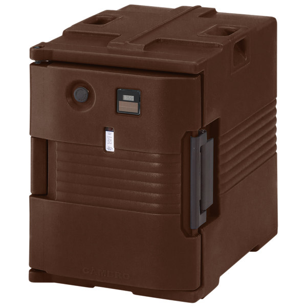 Cambro UPCH4002131 Ultra Pan Carrier® Dark Brown Electric Hot Food Holding Cabinet in Fahrenheit - 220V Main Image 1