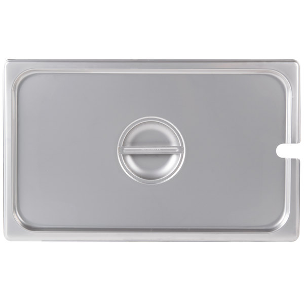 Choice Full Size Stainless Steel Slotted Steam Table / Hotel Pan Cover Main Image 1