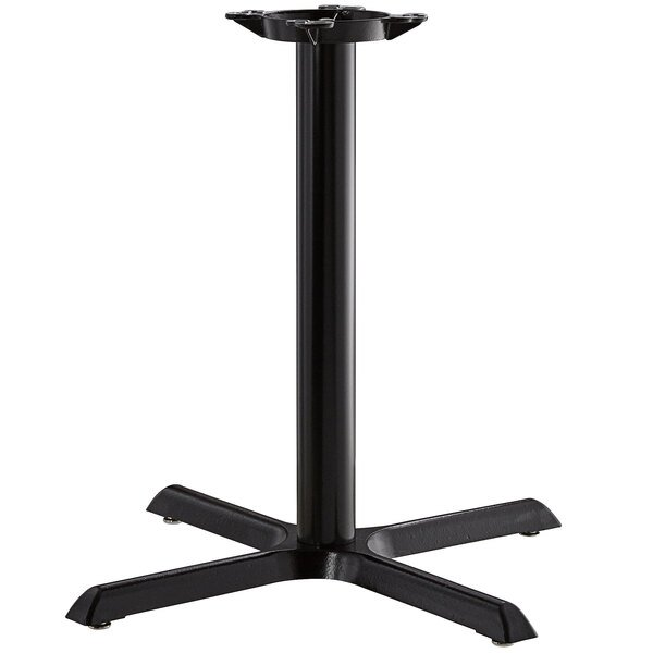 "Lancaster Table & Seating 30"" x 30"" Black 3"" Standard Height Column Table Base Main Image 1"