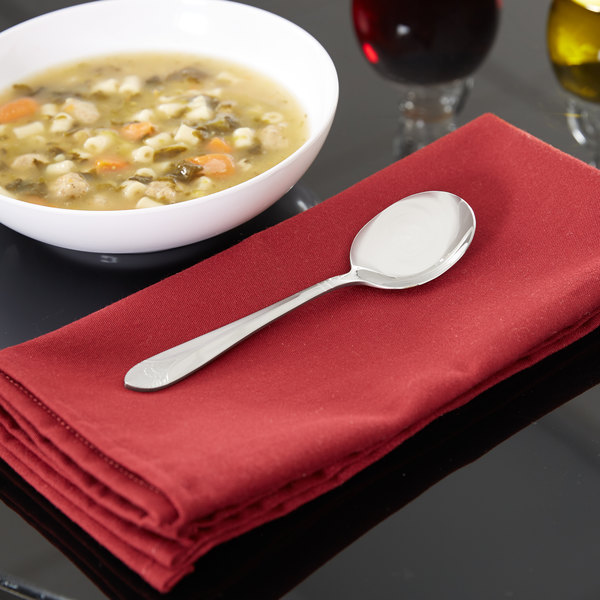 Marquis Flatware Stainless Steel Bouillon Spoon - 12/Case