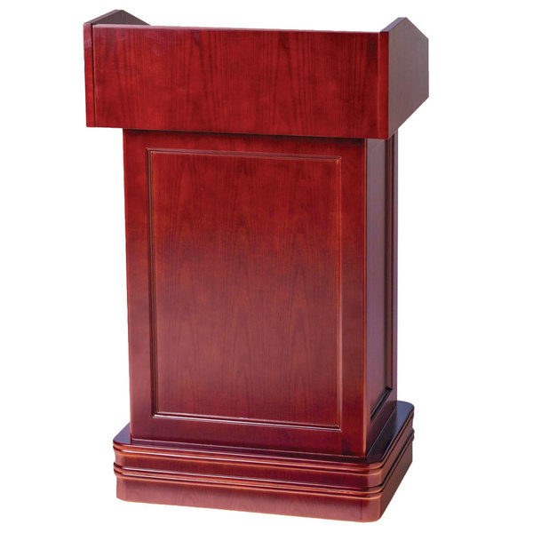 Aarco POD-1 Hostess Podium with Cherry Finish Main Image 1