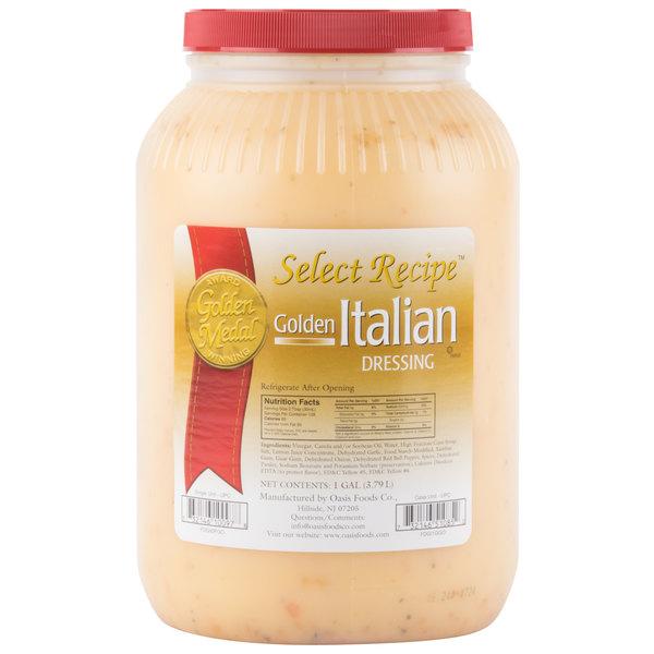 Oasis Golden Italian Dressing 1 Gallon Container - 4/Case