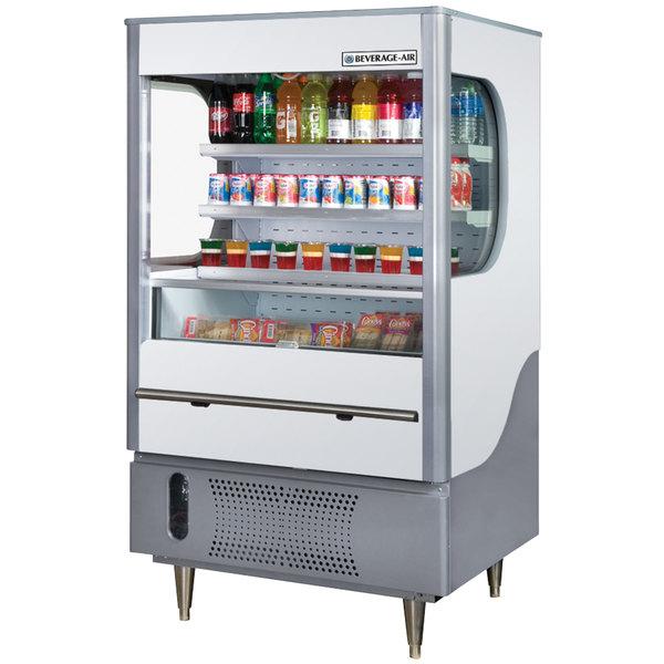 """Beverage-Air VM7-1-W VueMax 35"""" White and Gray Air Curtain Merchandiser"""