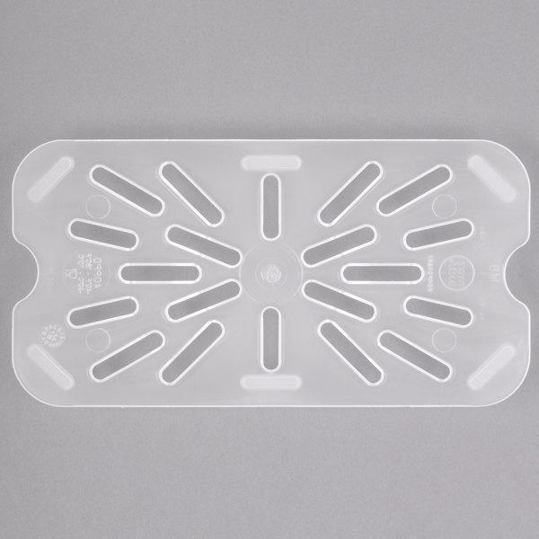Cambro 40PPD190 1/4 Size Translucent Polypropylene Drain Tray