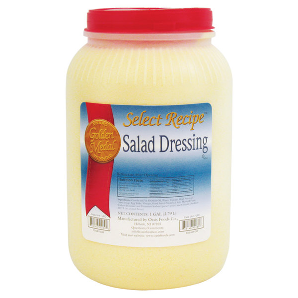 Salad Dressing / Base - (4) 1 Gallon Containers / Case - 4/Case