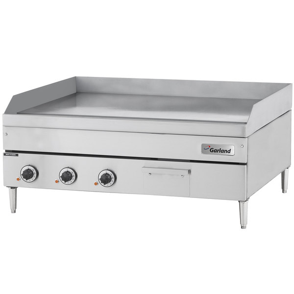 "Garland E24-48G 48"" Heavy-Duty Electric Countertop Griddle - 240V, 3 Phase, 16 kW"