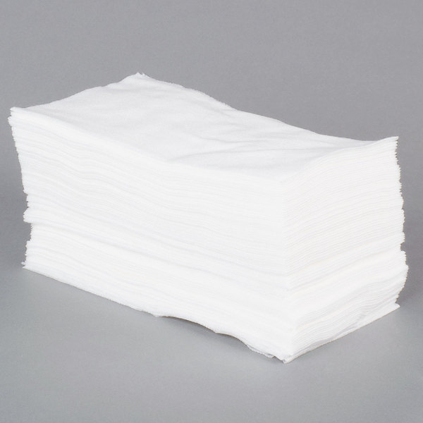 Lavex Janitorial 13 1/4 inch x 24 inch White Foodservice Wiper  - 150/Case