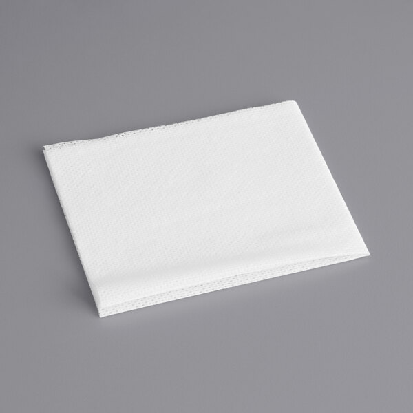 Choice 13 1/4 inch x 21 inch White Foodservice Towel  - 150/Case