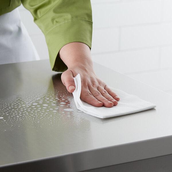 "Choice 13 1/4"" x 21"" White Foodservice Towel - 150/Case Main Image 2"