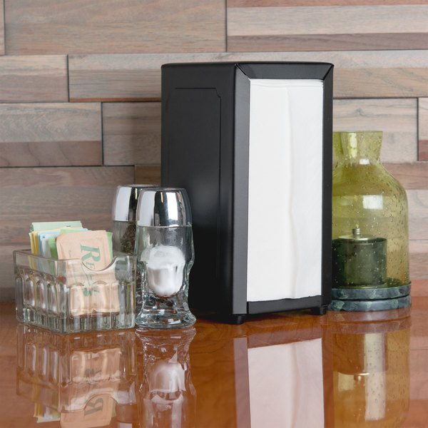 Tablecraft 2212 Tallfold Napkin Dispenser- Black Main Image 3