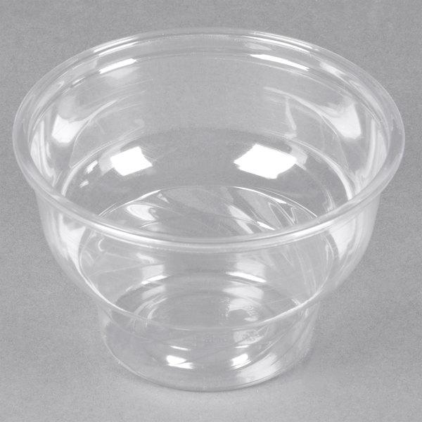 8 oz. Clear PET Sundae Cup - 50/Pack
