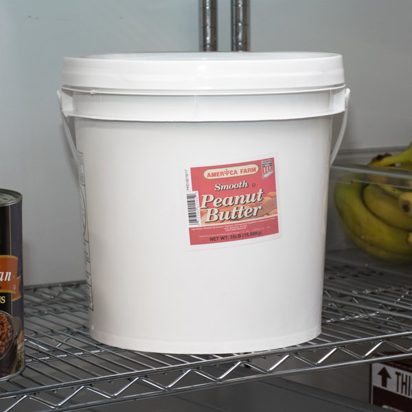 Bulk Smooth Peanut Butter 35 lb. Tub