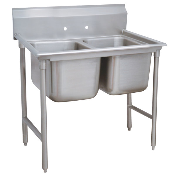 Advance Tabco 9-2-36 Super Saver Two Compartment Pot Sink - 44""