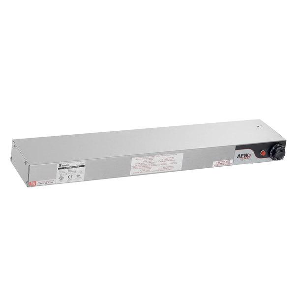 """APW Wyott FD-30H-I 30"""" High Wattage Calrod Strip Food Warmer with Infinite Controls - 208V, 760W"""