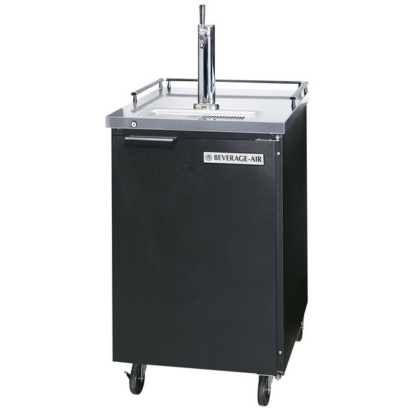 Beverage-Air BM23-B Single Tap Kegerator Beer Dispenser - Black, (1) 1/2 Keg Capacity
