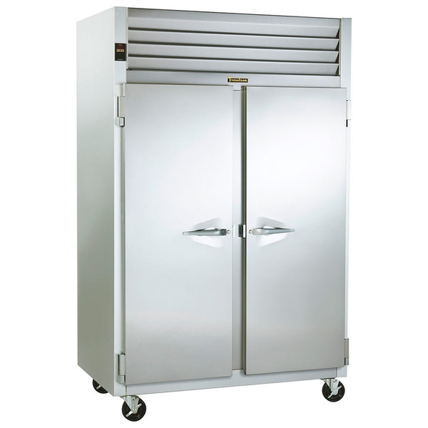 """Traulsen G22010 52"""" G Series Two Section Solid Door Reach in Freezer with Left / Right Hinged Doors - 46 cu. ft."""