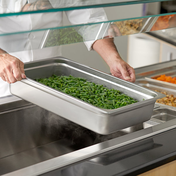 """Full Size 4"""" Deep Stainless Steel Steam Table / Hotel Pan - 25 Gauge Main Image 2"""