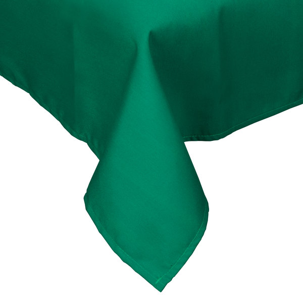 "45"" x 45"" Green Hemmed Polyspun Cloth Table Cover"