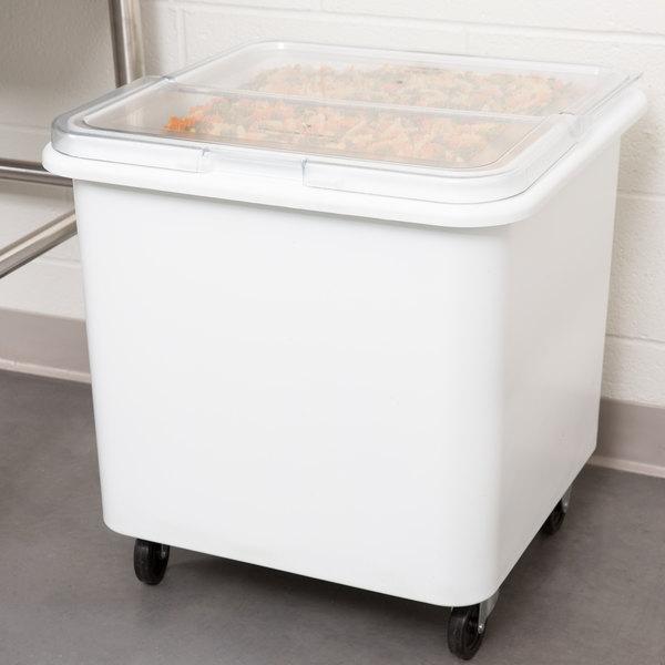 Rubbermaid FG360100WHT ProSave 28 Gallon Ingredient Storage Bin with Flat Top