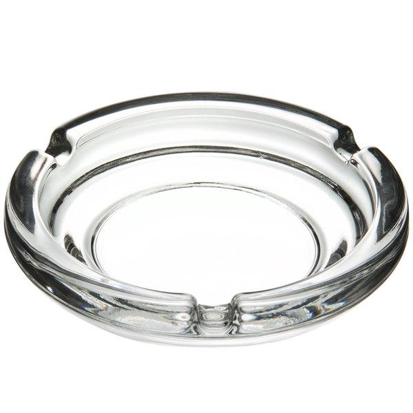 Glass Libbey Round Safety Ashtray 5 Diameter