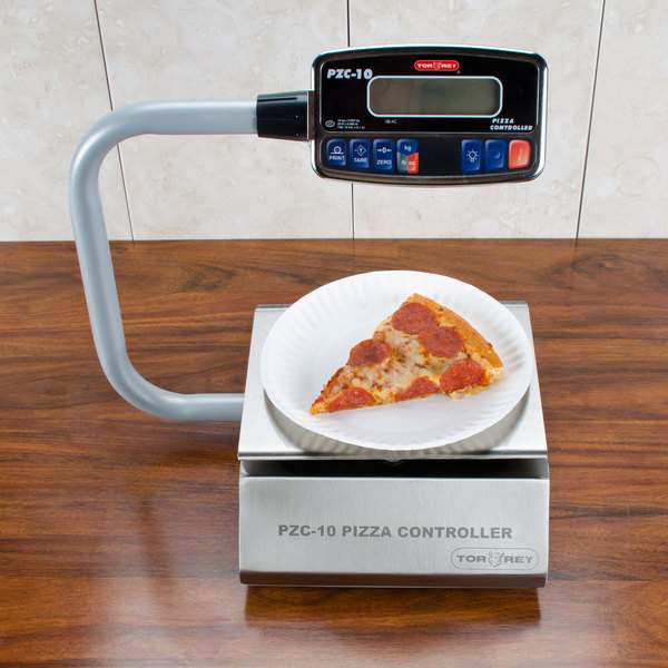 Tor Rey PZC-10/20 20 lb. Digital Pizza Ingredient Controller Portion Scale with Foot Tare Pedal