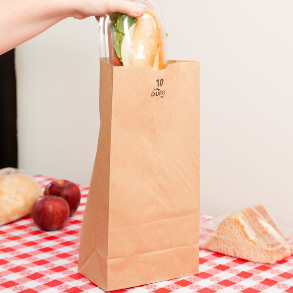 Duro 10 lb. Brown Paper Bag - 500/Bundle