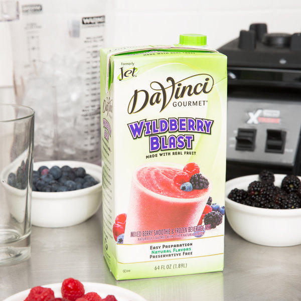 DaVinci Gourmet Wildberry Blast Real Fruit Smoothie Mix - 64 oz.
