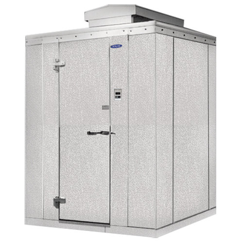 "Lft. Hinged Door Nor-Lake KODB77612-C Kold Locker 6' x 12' x 7' 7"" Outdoor Walk-In Cooler"