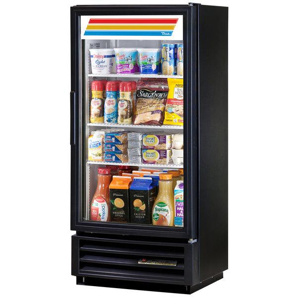 True GDM-10SSL-LD Black Slim Line Swing Door Refrigerated Glass Door Merchandiser