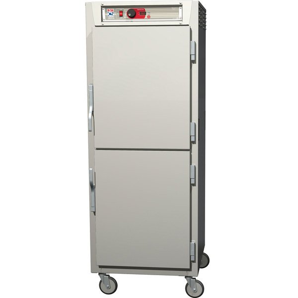 Metro C589-NDS-UPDC C5 8 Series Reach-In Pass-Through Heated Holding Cabinet - Clear Dutch / Solid Dutch Doors