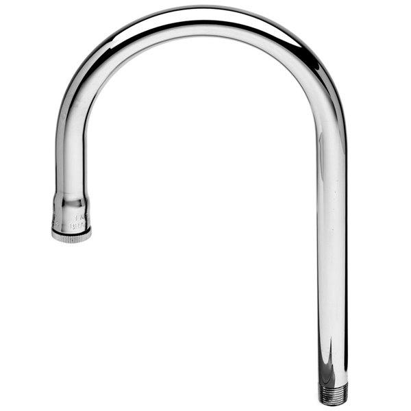 "T&S 127X Rigid Gooseneck Faucet Nozzle - 10 1/2"" High with 7 5/8"" Spread"