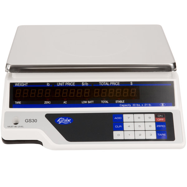 Globe GS30 30 lb. Price Computing Scale, Legal for Trade