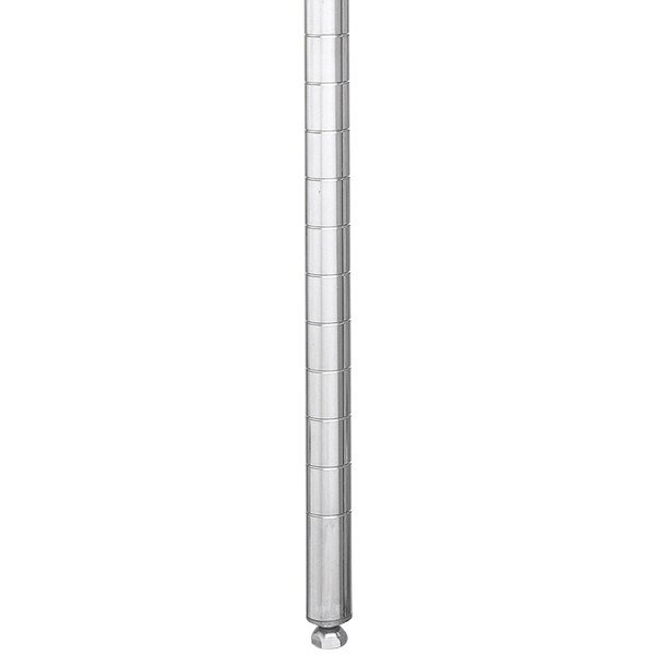 """Metro 54PS Stationary Super Erecta SiteSelect 54"""" Stainless Steel Post"""
