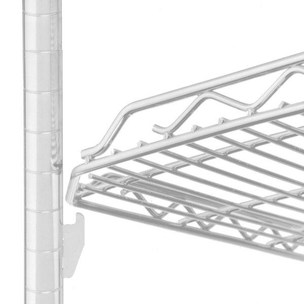 "Metro HDM1448QW qwikSLOT Drop Mat White Wire Shelf - 14"" x 48"""